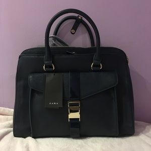 Navy Blue Zara Bag